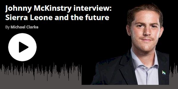 Michael Calrke Show: Johnny McKinstry interview - Sierra Leone and the future