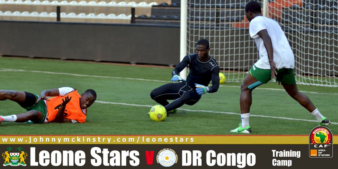 Leone Stars arrive for DR Congo clash. (9 Sep 2014)