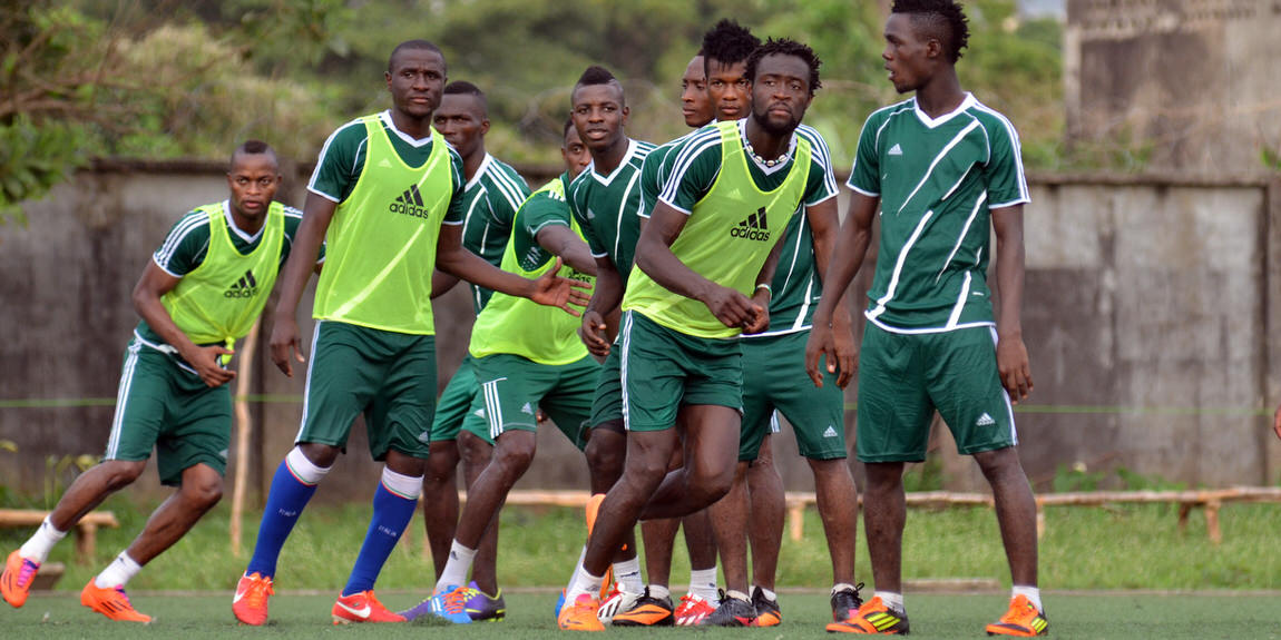 Leone Stars training camp ahead of Swaziland Game on 31 May 2014 (Pic: Darren McKinstry)]