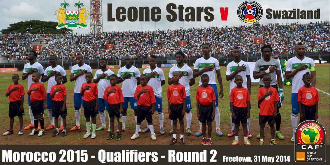 The Leone Stars [Leone Stars v Swaziland 31 May 2014 (Pic: Darren McKinstry)]