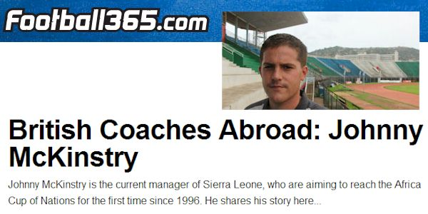 British Coaches Abroad: Johnny McKinstry