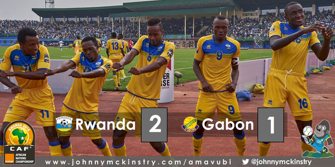 CHAN 2016: Rwanda defeat Gabon 2-1 to move to Quarter finals