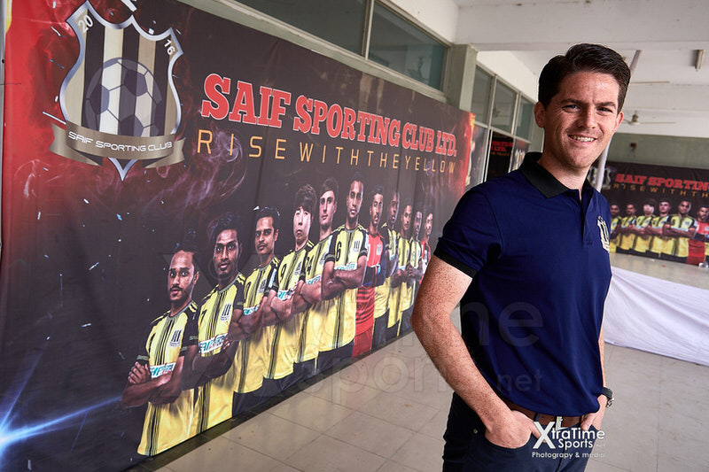 Mymensingh, Bangladesh. 03 Mar 2019.  Johnathan McKinstry (Head Coach, Saif Sporting Club).  Rafiq Uddin Bhuiyan Stadium.  Credit: XtraTimeSports (Darren McKinstry).
